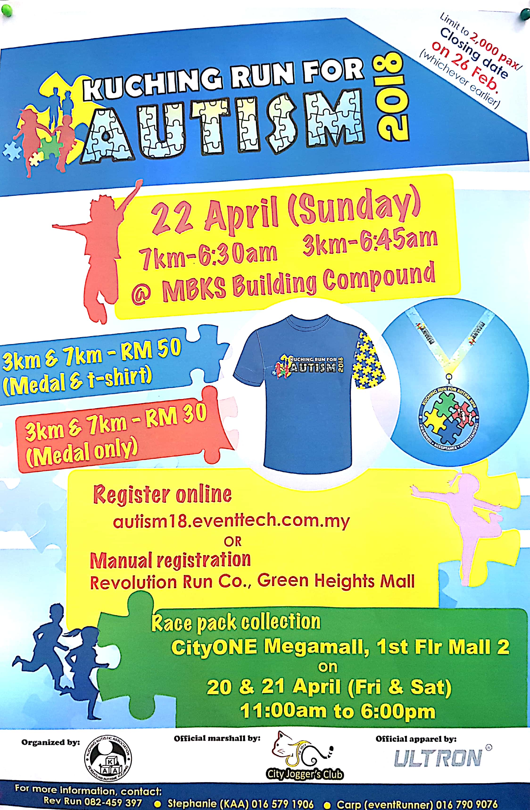 KUCHING RUN FOR AUTISM 2018